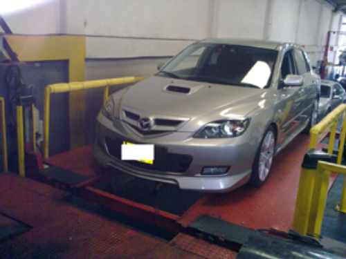 Mazda 323 Turbo with SMT8-T